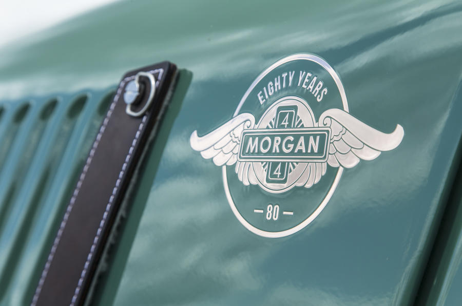 Morgan 80th Anniversary 4/4 badging