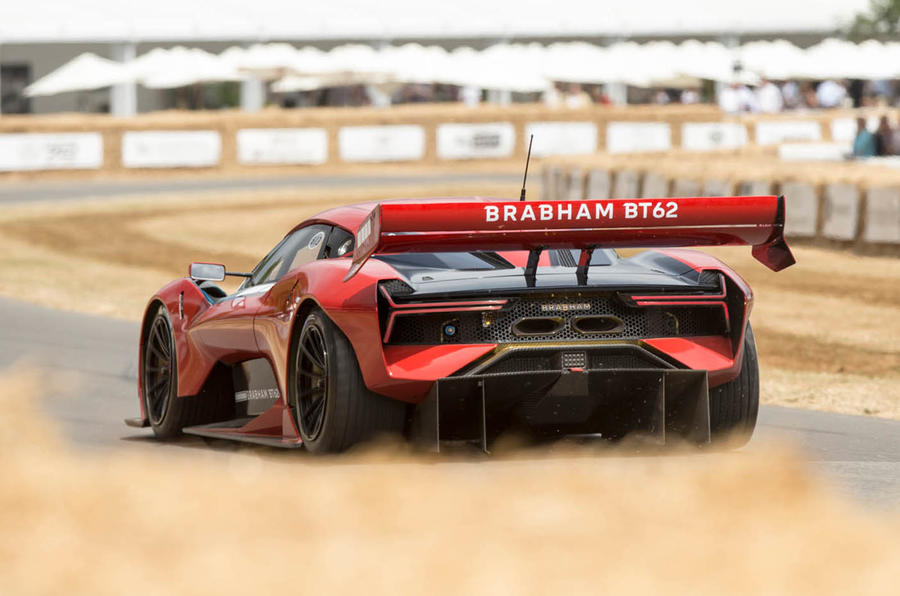 Brabham BT62: 700bhp track-only hypercar demonstrated at Goodwood