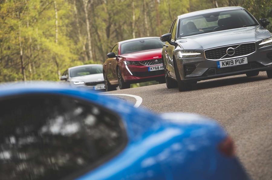 Volvo S60 vs Kia Stinger vs Peugeot 508 vs Alfa Romeo Giulia