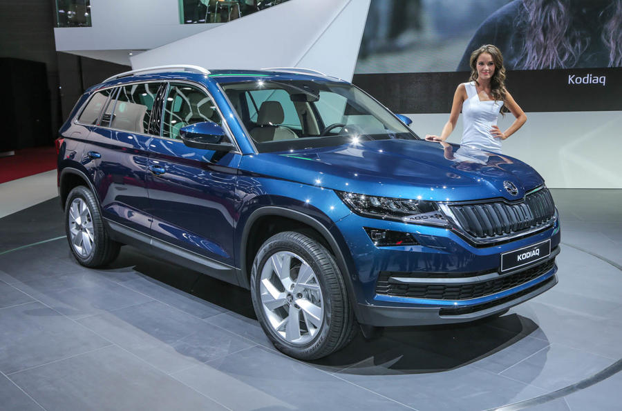 Unique 2017 Skoda Kodiaq Makes Public Debut In Paris  Autocar