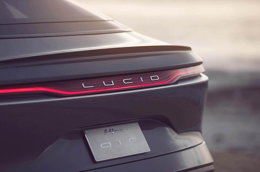 2020 Lucid Air - rear numberplate