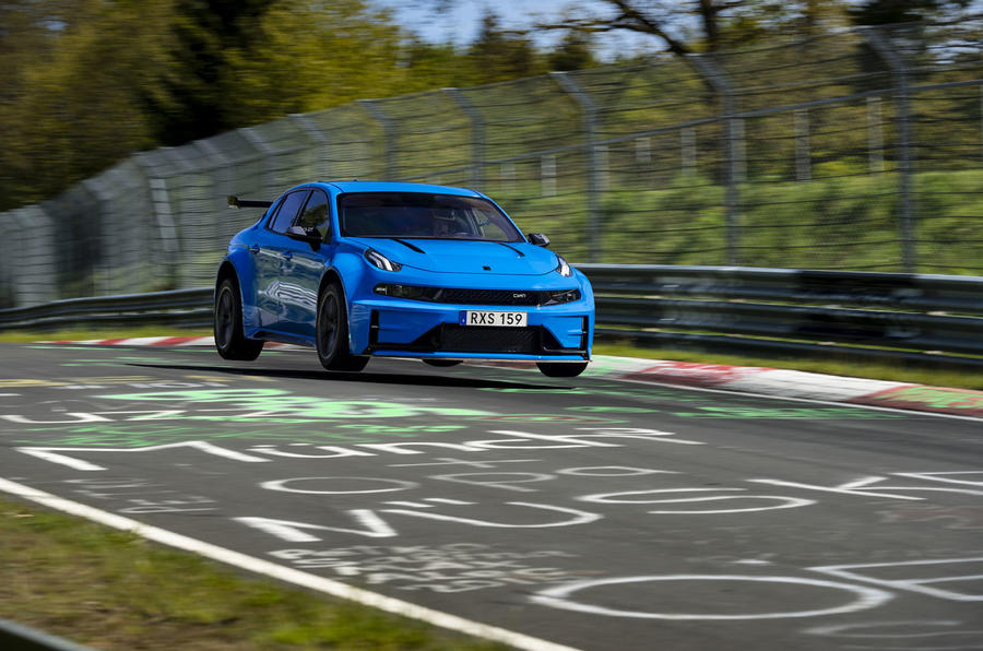 Lynk & Co 03 Cyan Concept 'breaks two Nurburgring lap records'