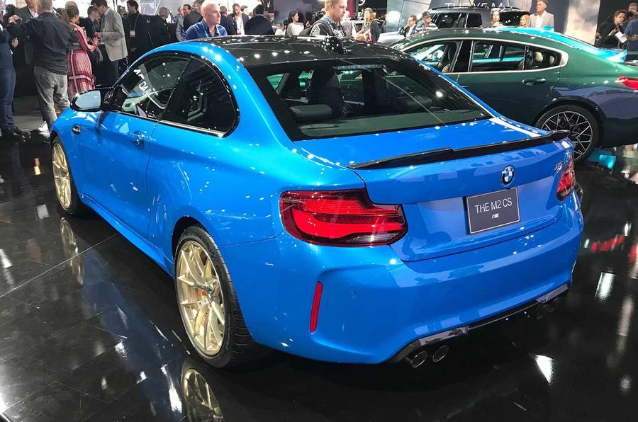 BMW M2 CS rear three quarter
