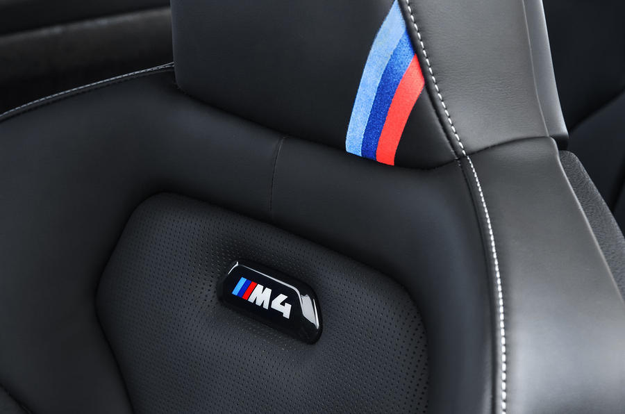 BMW M4 CS interior badging