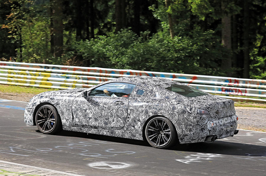 BMW M8 spy shot