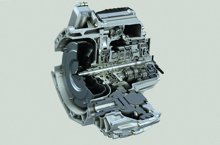 ZF 9HP gearbox cutaway