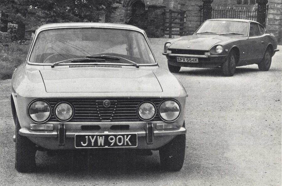 Alfa Romeo 2000 GTV and Datsun 240Z
