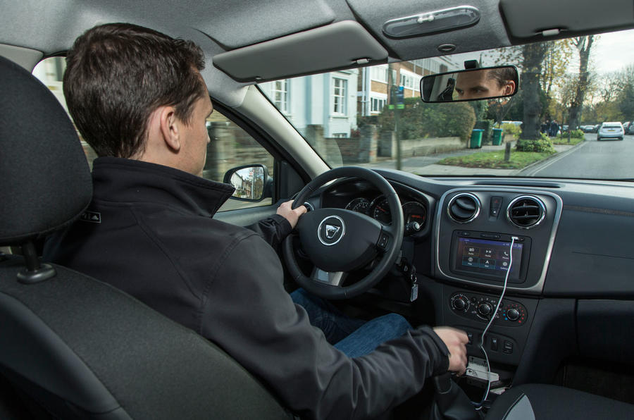 Mark Tisshaw driving the Dacia Sandero Stepway LPG