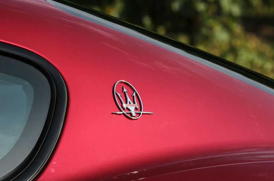 Maserati GranTurismo 2018 first drive review rear badge