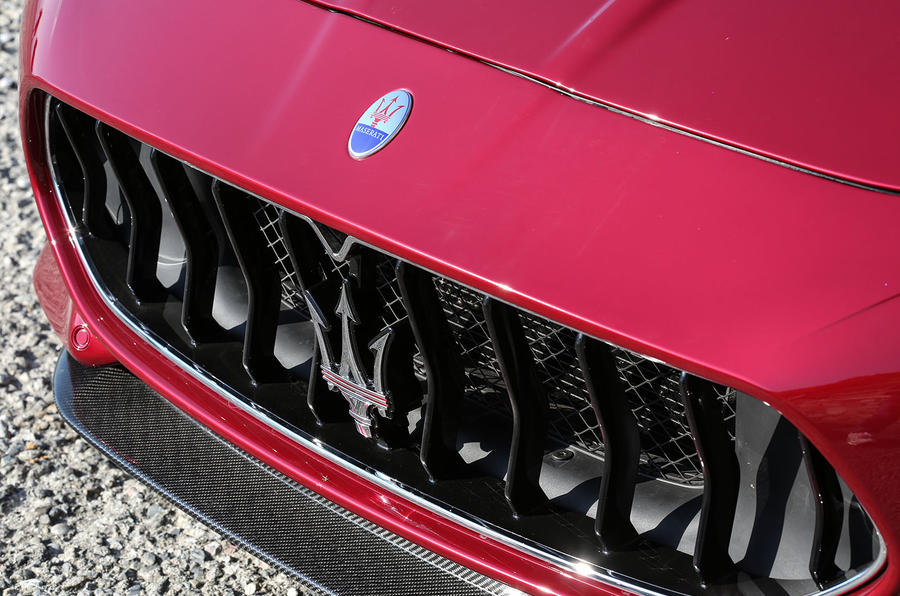 Maserati GranTurismo 2018 first drive review front grille