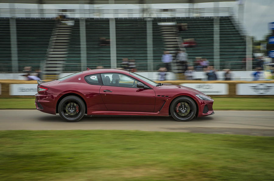 Updated Maserati GranTurismo and GranCabrio run at Goodwood