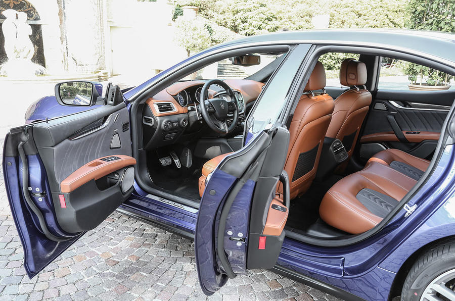Maserati Ghibli doors opened