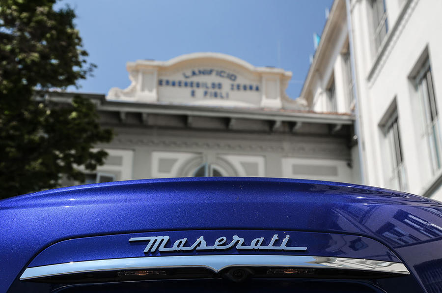 Maserati rear badge