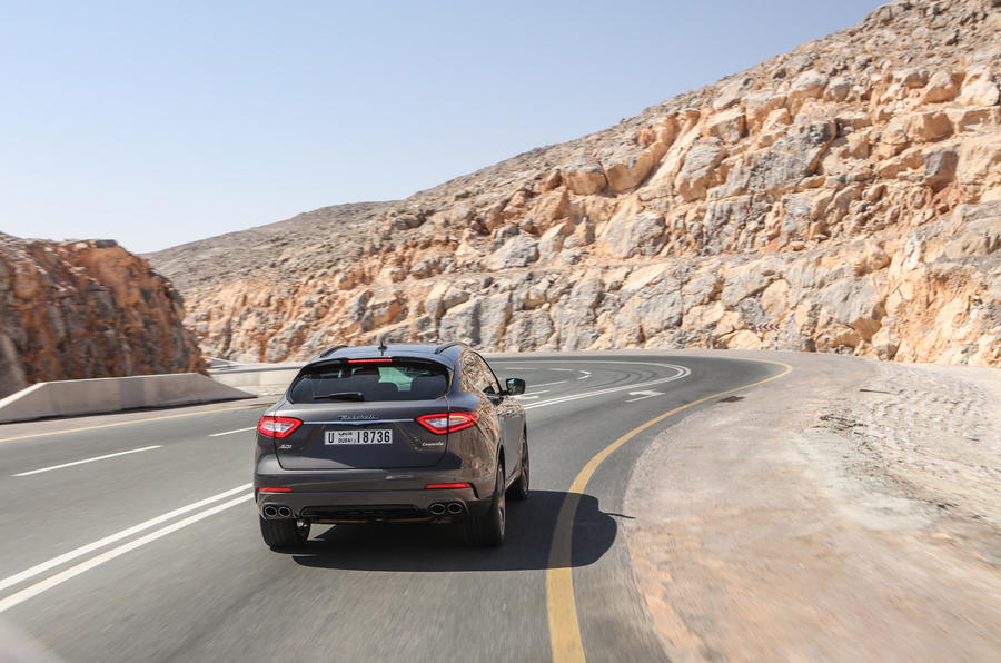 Maserati Levante S GranSport rear cornering