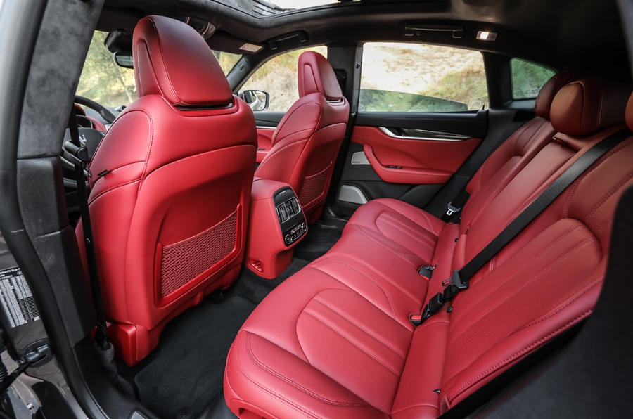 Maserati Levante S GranSport rear seats