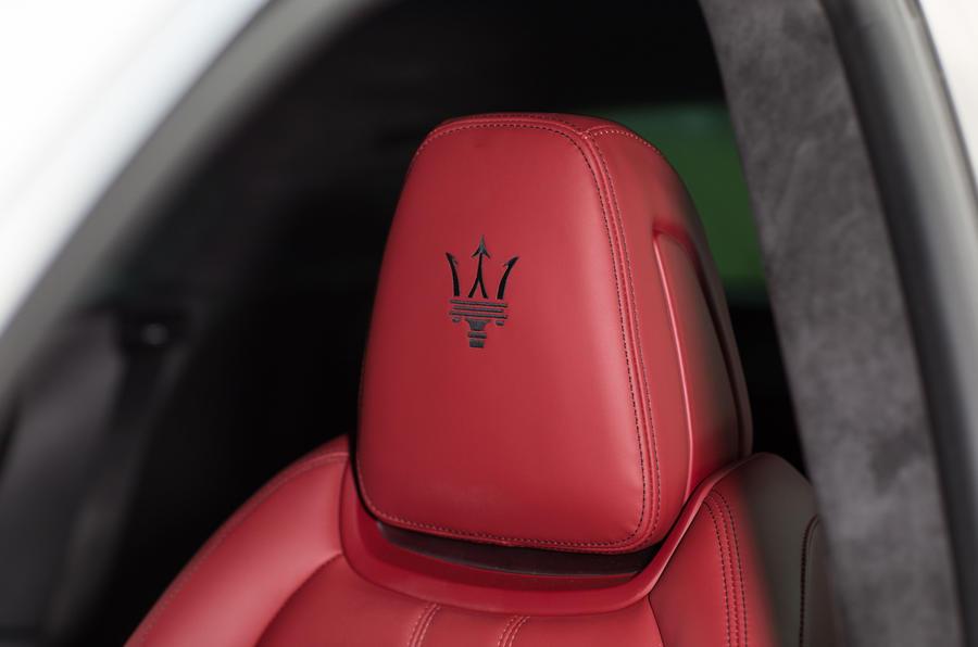 Maserati Levante S GranSport badged headrests