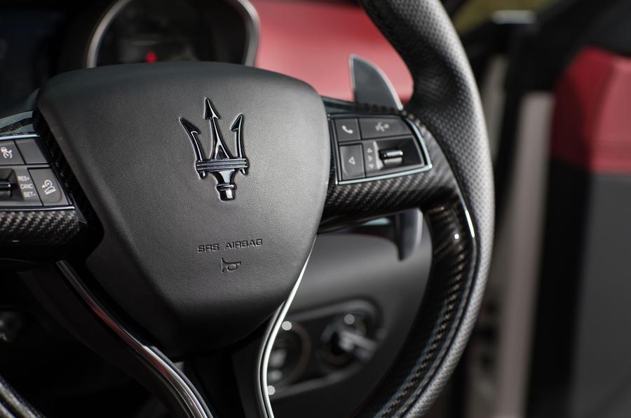Maserati Levante S GranSport steering wheel