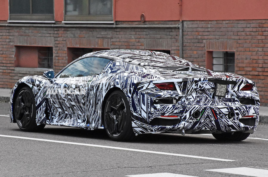 Maserati MC20 spy photos - rear