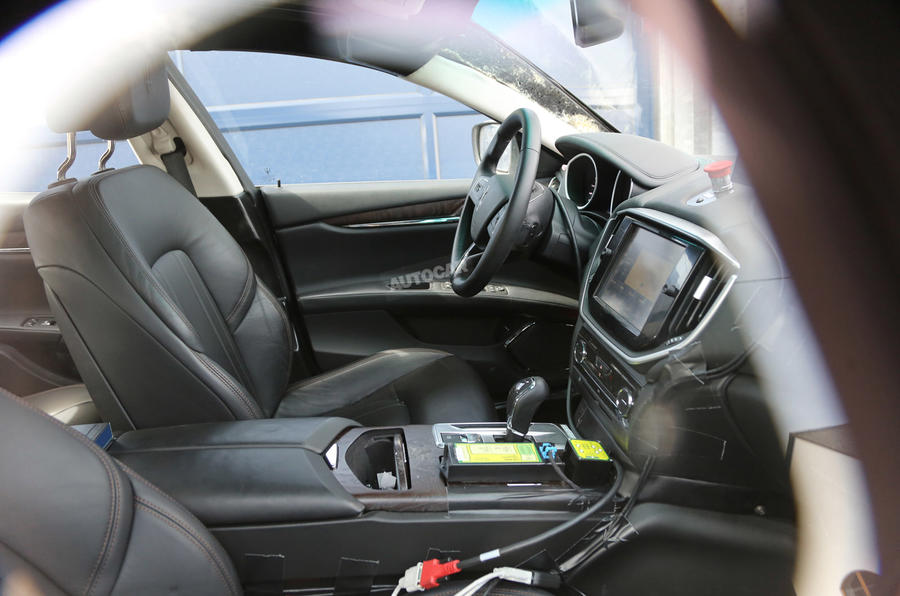Maserati Levante interior spy photo