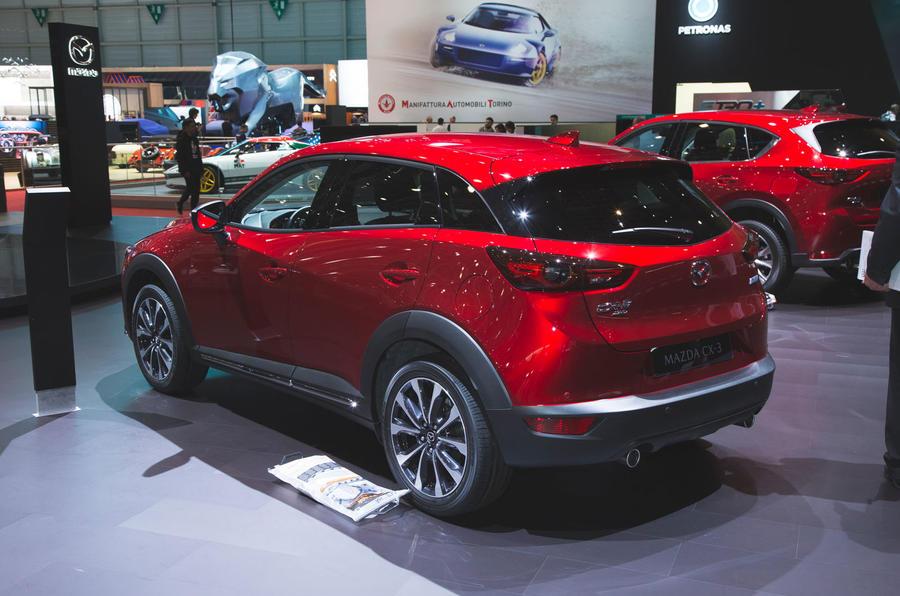 Mazda CX-30 2019 Geneva motor show reveal - Autocar snap rear