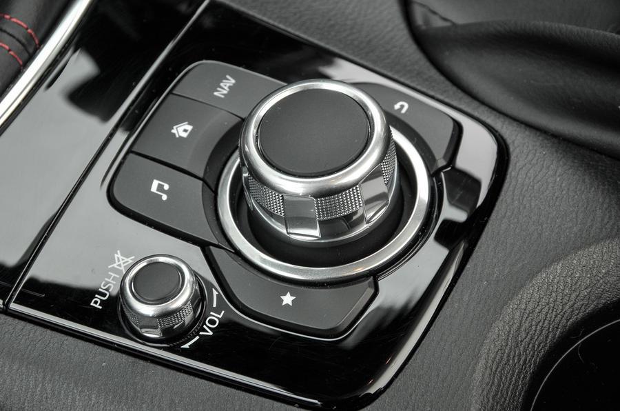Mazda 3 Sport Black infotainment controls