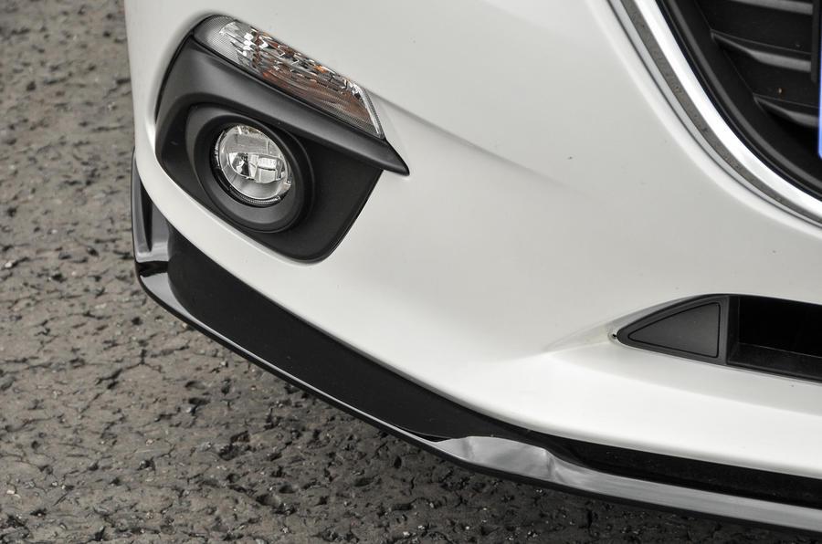 Mazda 3 Sport Black front diffuser