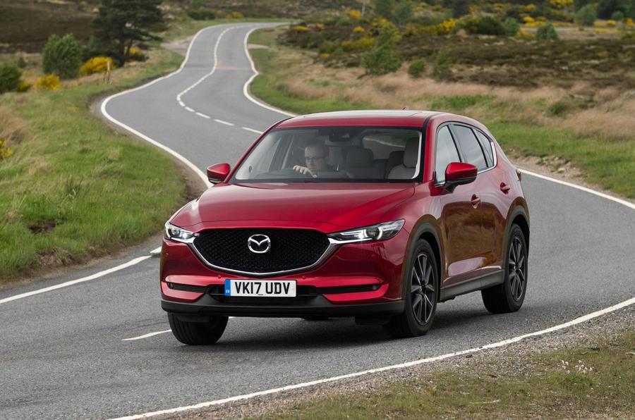 Mazda CX-5 cornering
