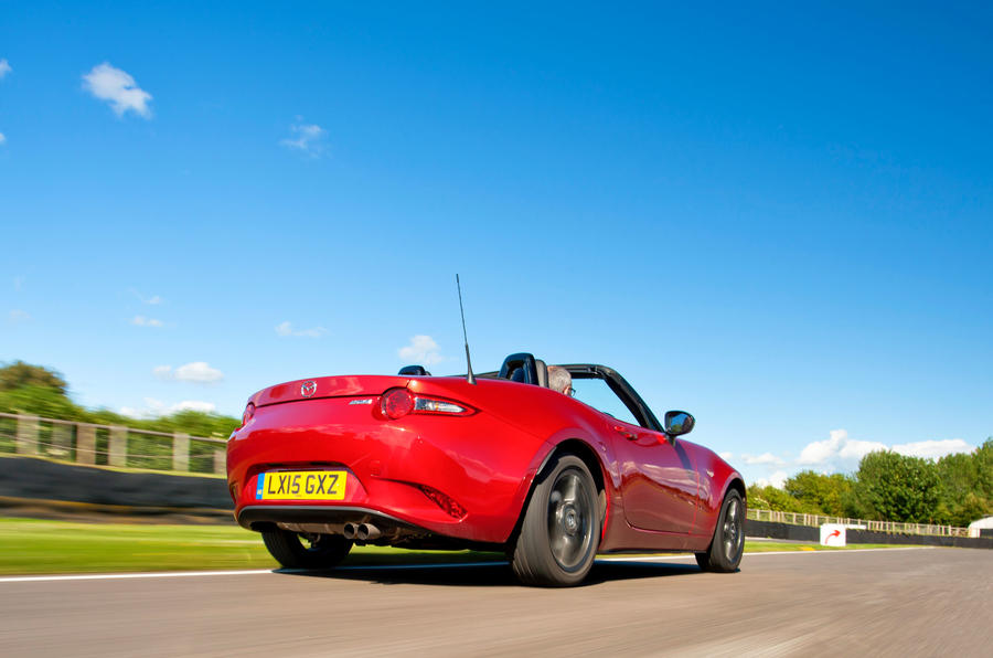 Mazda MX-5 rear cornering