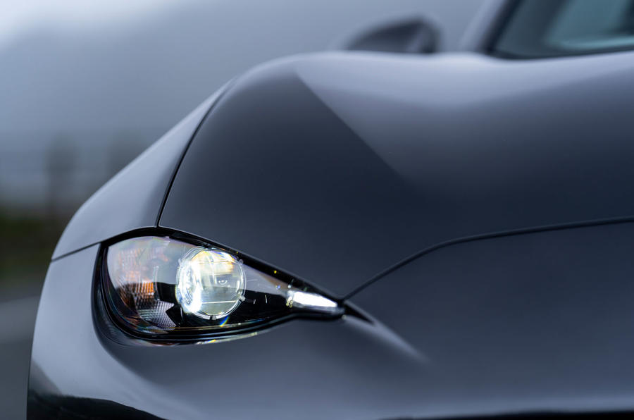 Mazda MX-5 RF 2018 Uk first drive review headlights