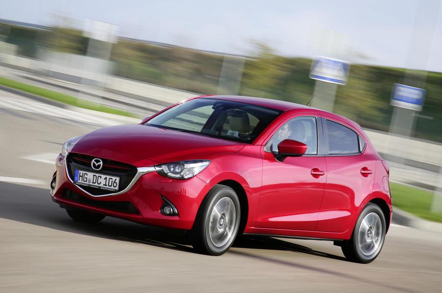 Mazda 2 Sport Nav cornering