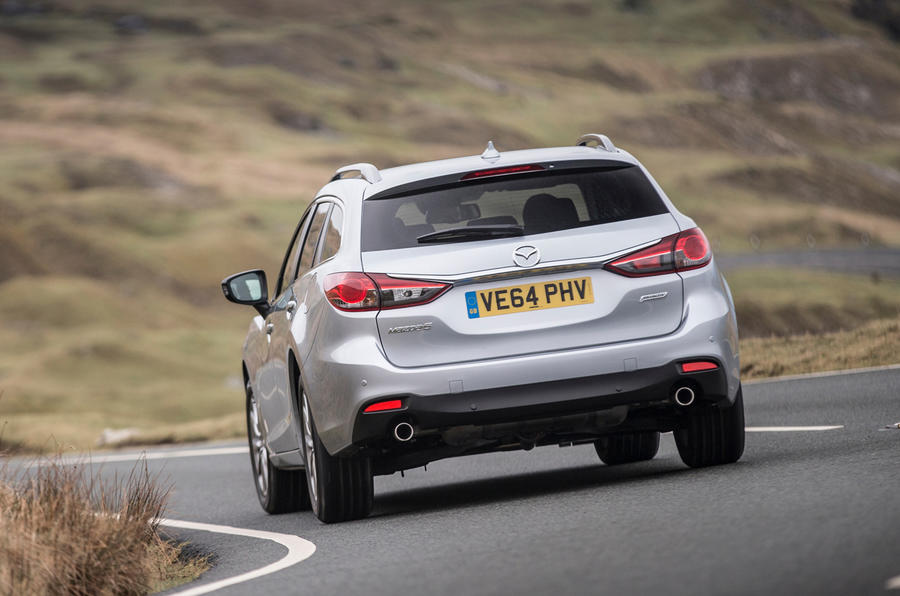 Mazda 6 Tourer rear cornering