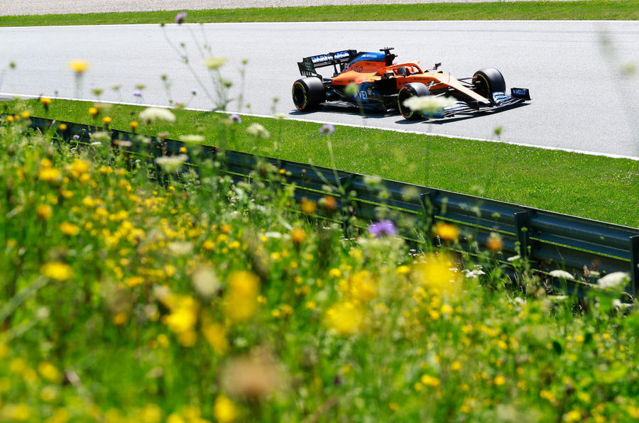 McLaren driver Lando Norris finished in third place in Austria at the weekend
