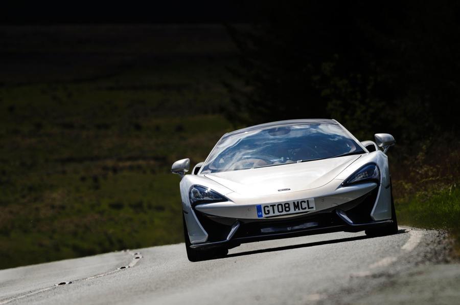 McLaren 570GT cornering