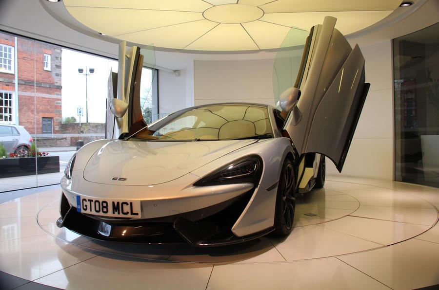 McLaren 570GT doors opened