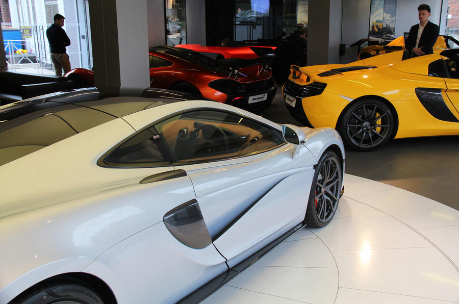 In the McLaren showroom