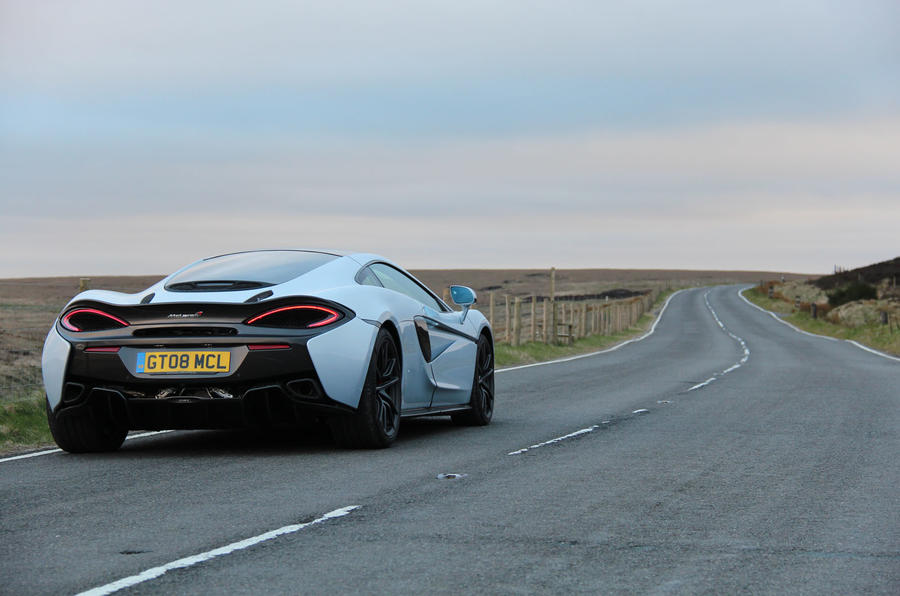 McLaren 570GT on the open road