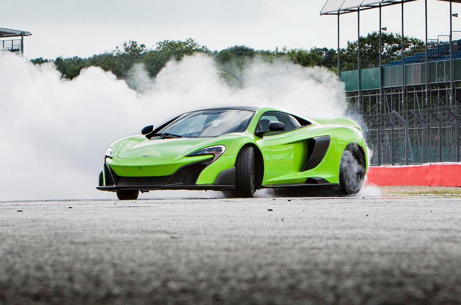 McLaren 675 LT drifting