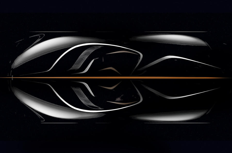New McLaren F1: official overhead view