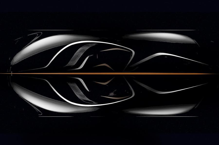 New McLaren F1: official overhead view
