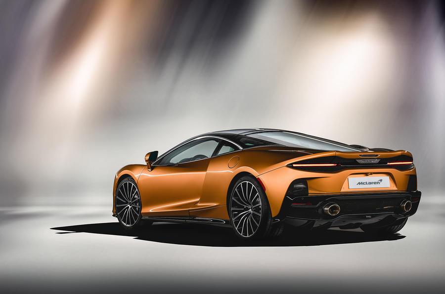 McLaren GT rear three quarters