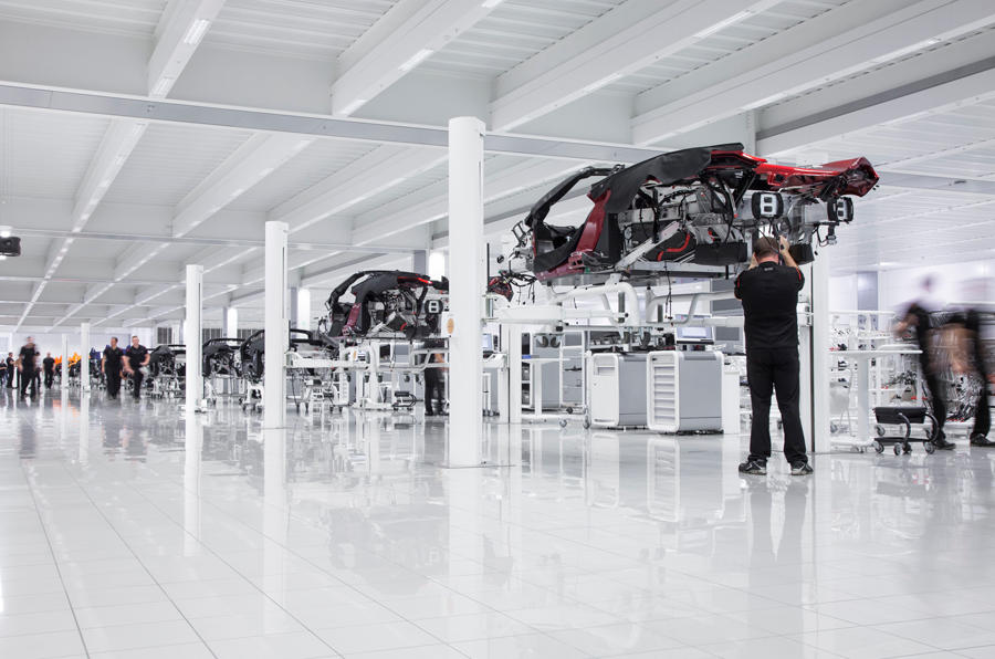 Mclaren Production Centre in Woking