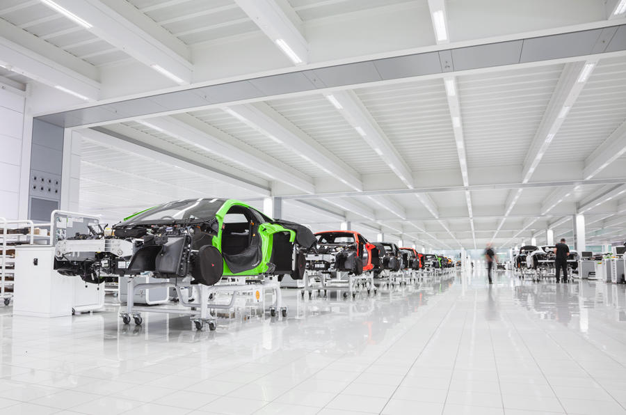 One of the 32 production processes a McLaren goes through