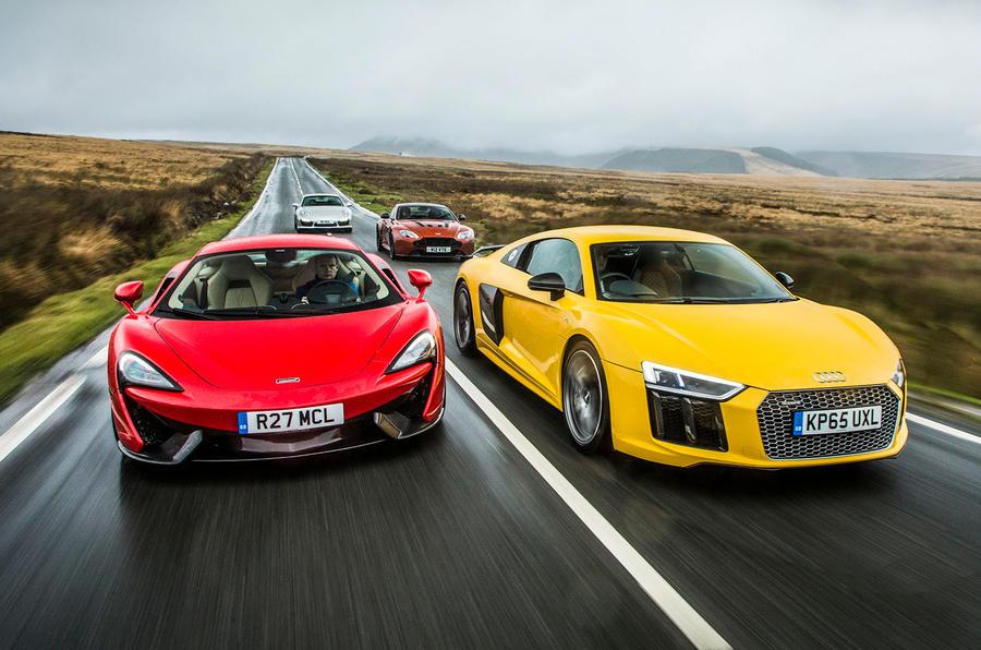 Audi R8 V10 Versus Rivals From Mclaren Porsche And Aston