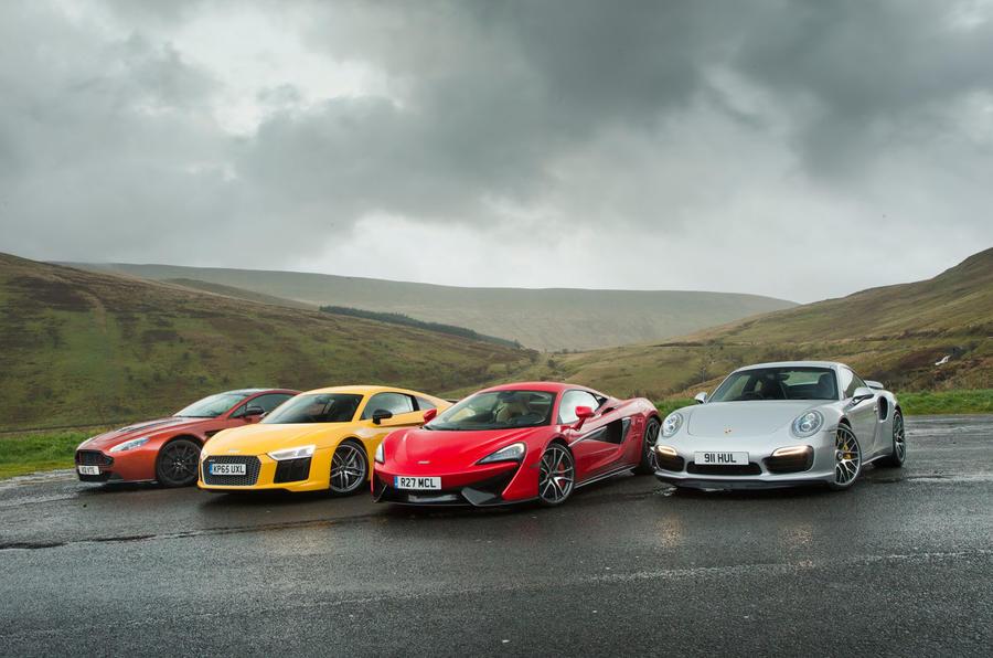 Audi R8, Porsche 911 and McLaren 570S