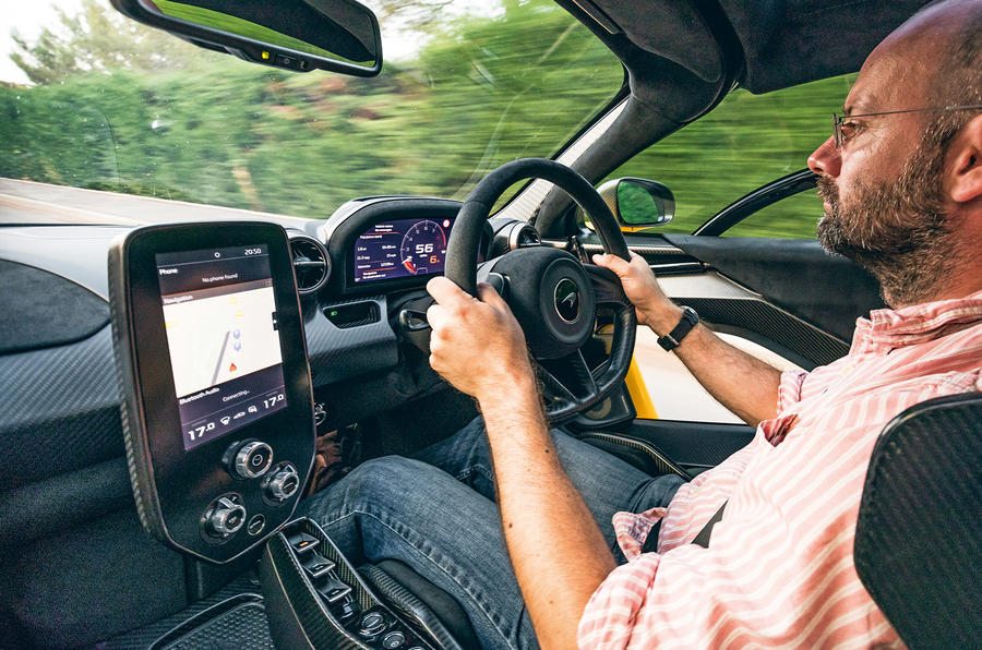 McLaren Senna 2018 UK first drive review Prior driving
