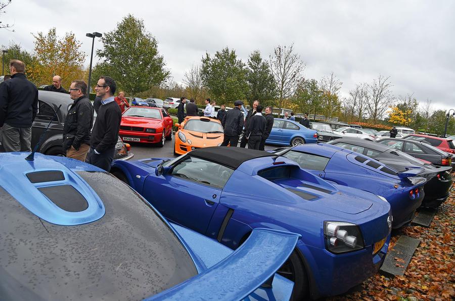 The cars of McLaren's workers