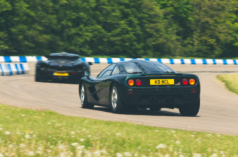 McLaren generations - F1 chasing P1 rear