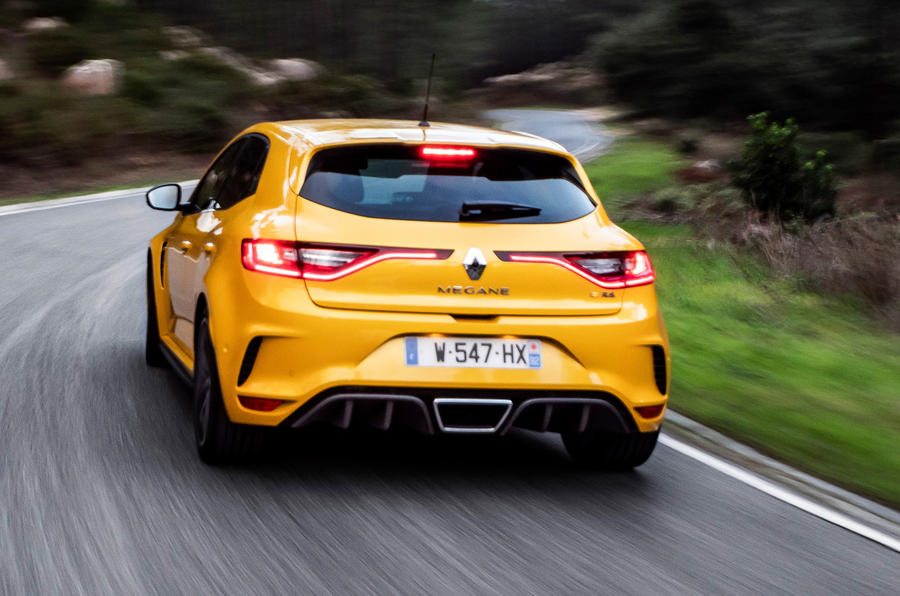Renault Megane RS Trophy rear on the road