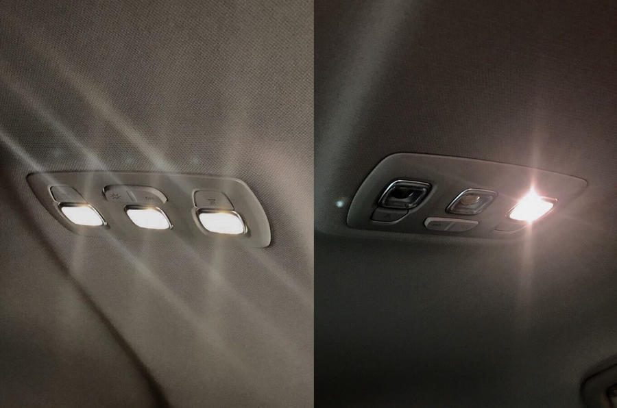 The Renault Mégane's reading lights