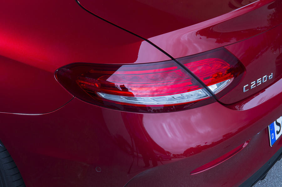 Mercedes-Benz C-Class Coupé rear lights